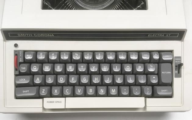 """Smith Corona """"Electra XT""""  from the keyboard..."""