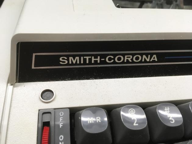"Smith Corona ""Electra XT""  from the logo (left side)..."