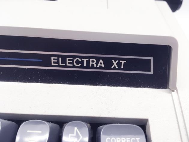 """Smith Corona """"Electra XT""""  from the logo (right side)..."""
