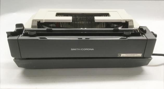 """Smith Corona """"Electra XT""""  from the back..."""