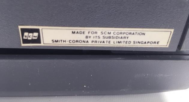 "Smith Corona ""Electra XT""  from the back (detail 2)..."