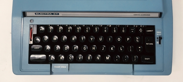 """Smith-Corona """"Electra XT"""" from the keyboard..."""