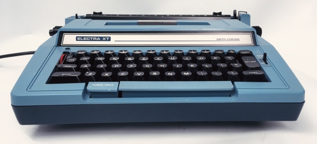 """Smith-Corona """"Electra XT"""" from the front..."""
