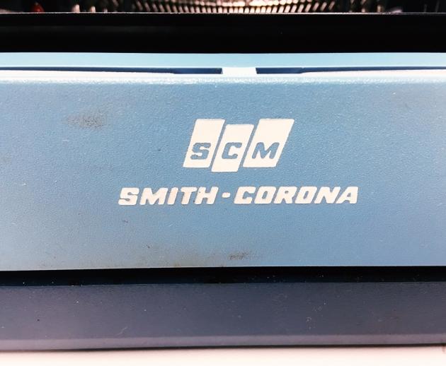 "Smith-Corona ""Electra XT"" from the back (detail)..."