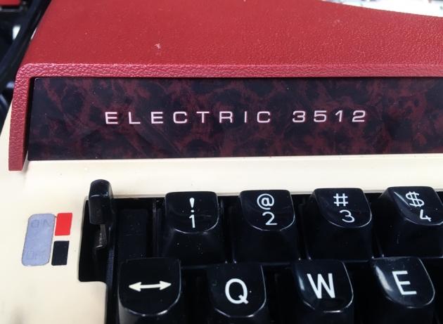"Brother ""3512"" Model (#), & Maker logos."
