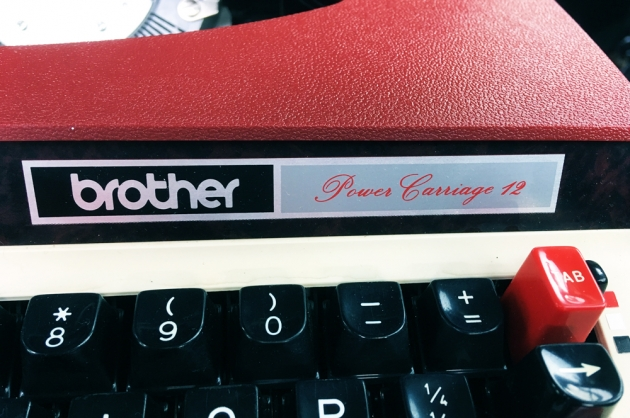 """Brother """"3512""""  Maker logos. (right side...)"""