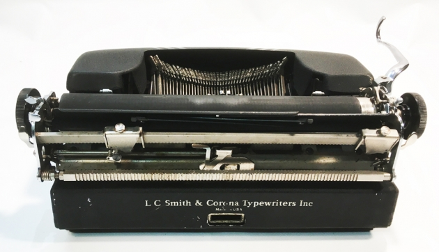 """Smith Corona """"Silent"""" from the back..."""