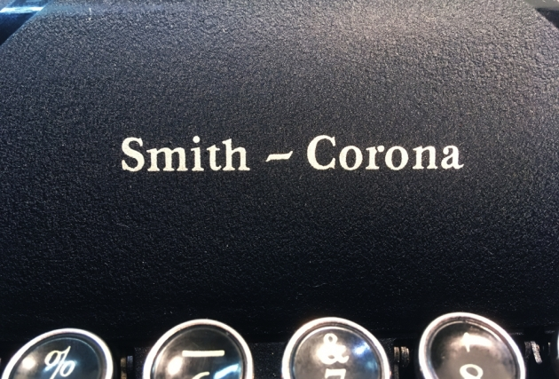 """Smith Corona """"Silent"""" from the logo on the front..."""