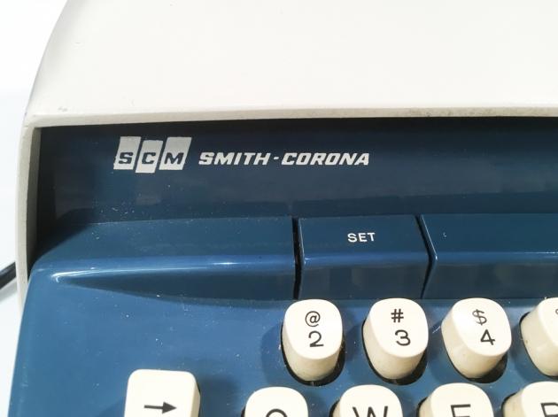 """Smith Corona """"Corona Seventy"""" logo on the left side..."""