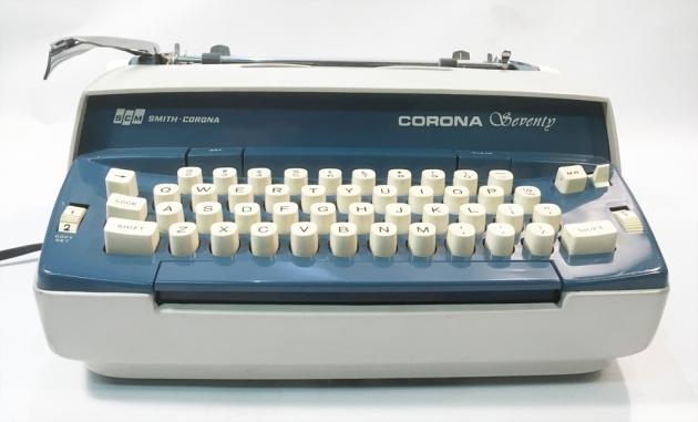 """Smith Corona """"Corona Seventy"""" from the front..."""