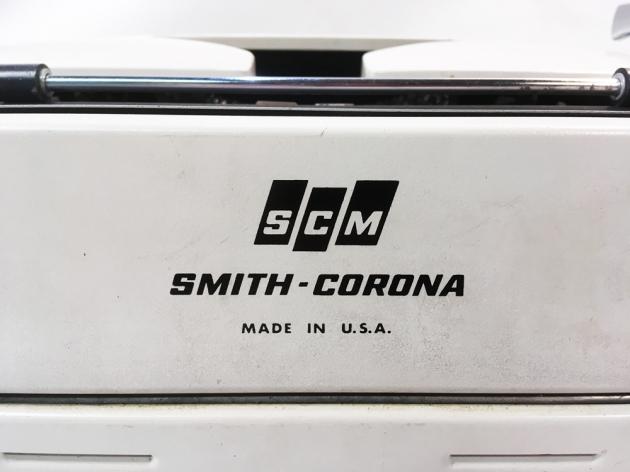 """Smith Corona """"Corona Seventy"""" from the  back (detail)..."""