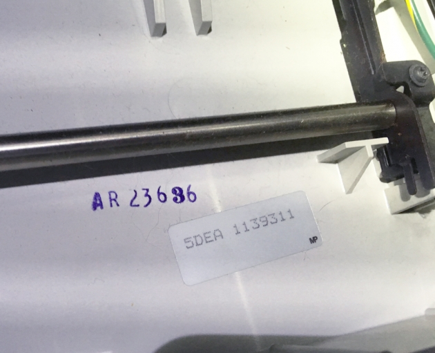 "Smith Corona ""PWP40"" serial number location..."