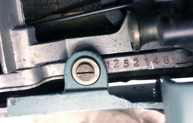 """Underwood-Olivetti """"Lettera 22"""" serial number location..."""