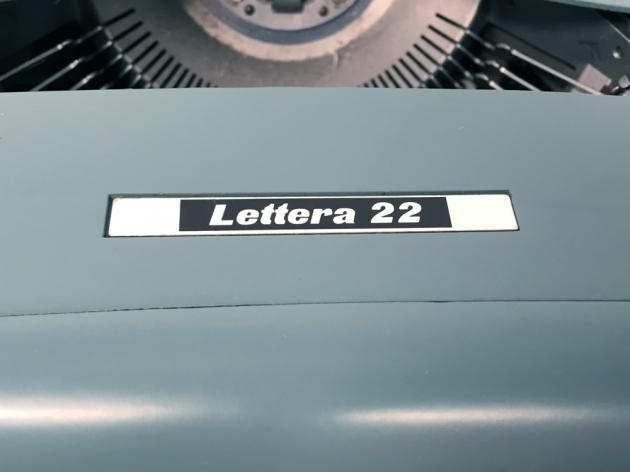 "Underwood-Olivetti ""Lettera 22""  logo on the front..."