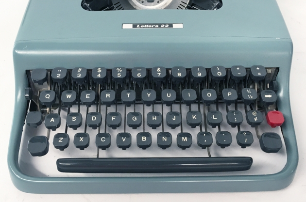 "Underwood-Olivetti ""Lettera 22""  from the keyboard..."