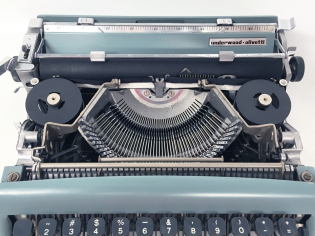"""Underwood-Olivetti """"Lettera 22""""  from under the hood..."""