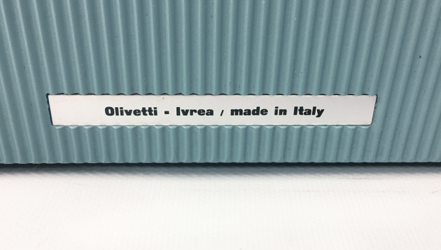 """Underwood-Olivetti """"Lettera 22""""  from the back (detail)..."""