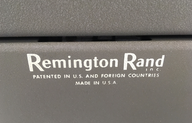 """Remington """"All-New"""" from the back (detail)..."""