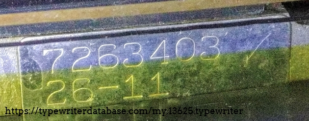 Serial number revised on plate