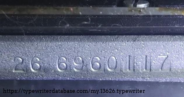 Serial number 26 6960117