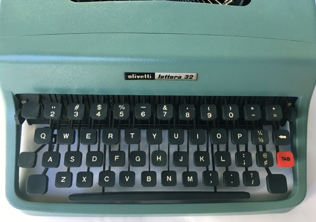 "Olivetti ""Lettera 32"" from the keyboard..."