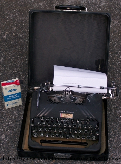 Baby photo: In the driveway of the estate sale. I was minutes away from purchasing the machine.