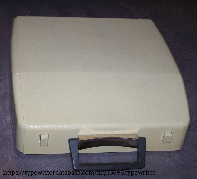 """The plastic case.  This model was later rebadged (or rather, unbadged) as a Sears """"Correction"""" in the 1980s."""