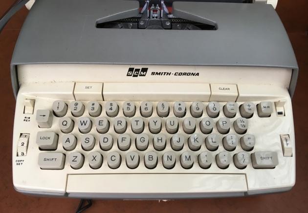 """Smith Corona """"Coronet"""" from the keyboard..."""