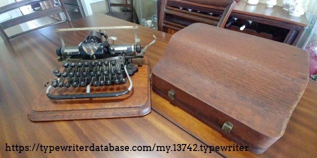 Typewriter and case