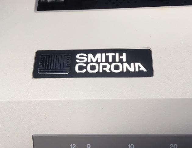 """Smith Corona """"XE 5000"""" maker logo on the top..."""
