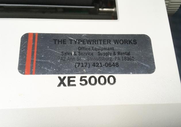 """Smith Corona """"XE 5000"""" model logo on the top..."""