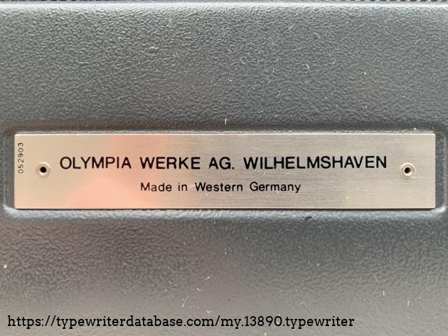 Backside typeplate