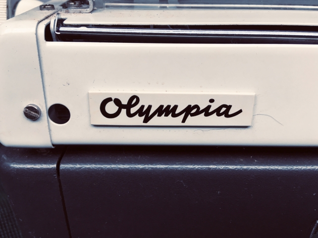 """Olympia """"SM9"""" from the logo on the back..."""