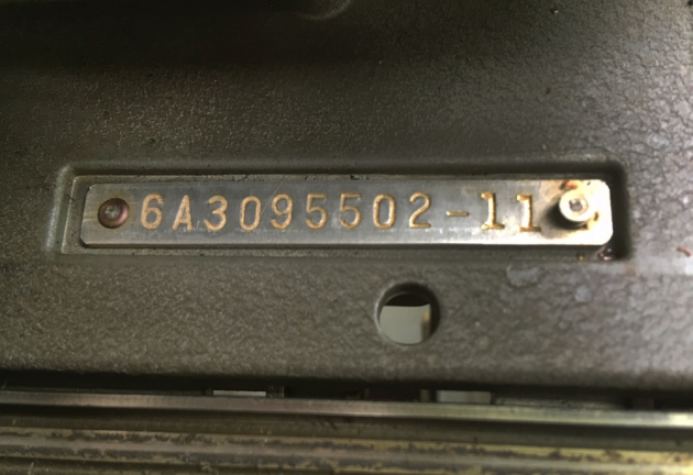 "Smith Corona ""88"" serial number location...."