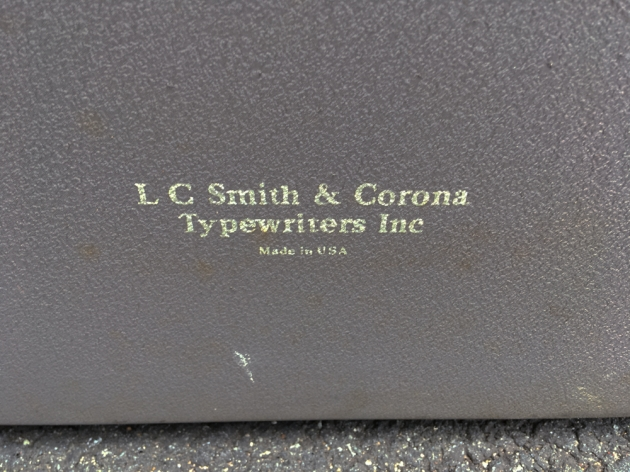 """Smith Corona """"88"""" from the back (detail)...."""