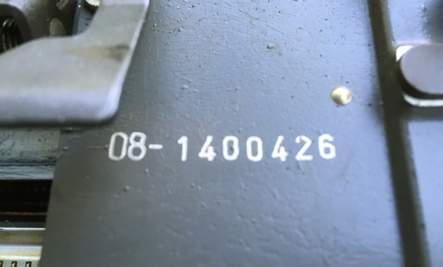 """Olympia """"SG3""""carriage serial number location..."""