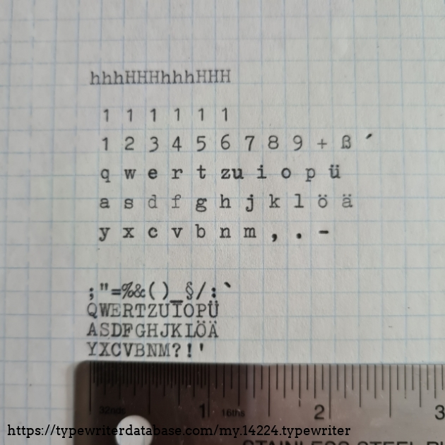 Typeface sample