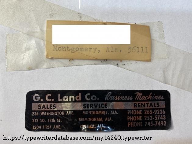 Service Sticker & Address Label (Owner Name & Street Address Hidden)
