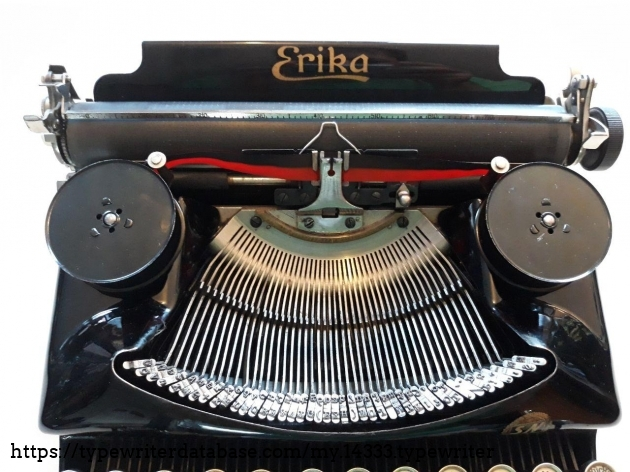 Erika 5 typebars and platen