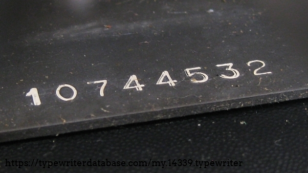Serial number (under the keyboard)