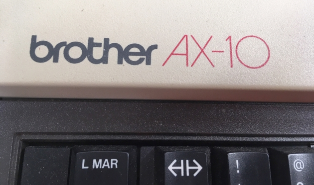 """Brother """"AX-10"""" from the logo on top (right)..."""