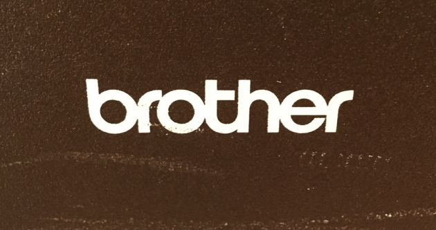 """Brother """"AX-10"""" from the back (detail)..."""
