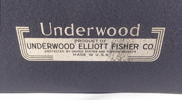 "Underwood ""Universal"" from the back (detail)..."