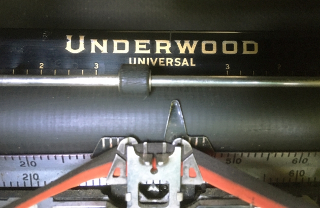 "Underwood ""Universal"" from the logo on the top...."