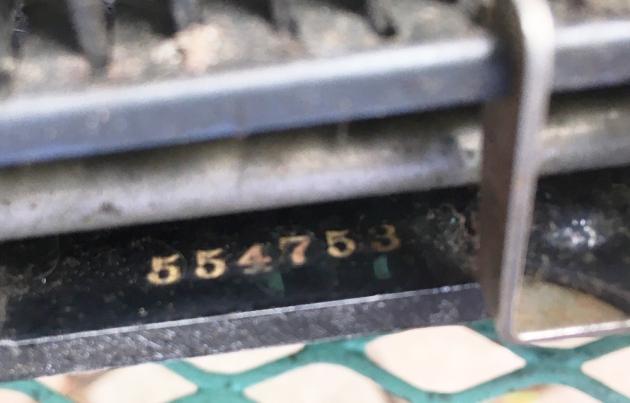 "Corona ""3"" serial number location..."