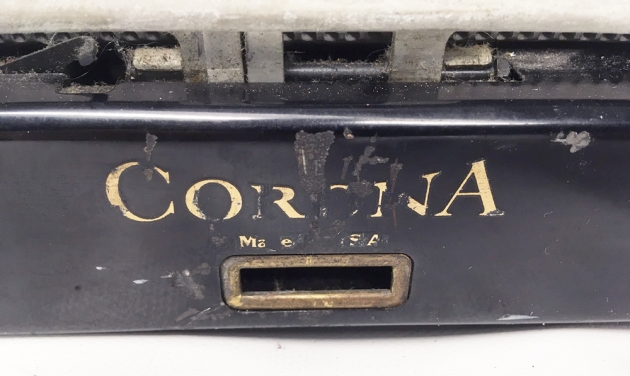 """Smith Corona """"Standard""""  from the back (detail)...."""