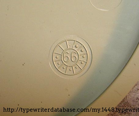 This stamp is found on the underside of the ribbon cover. My assumption is that it means September 1966.