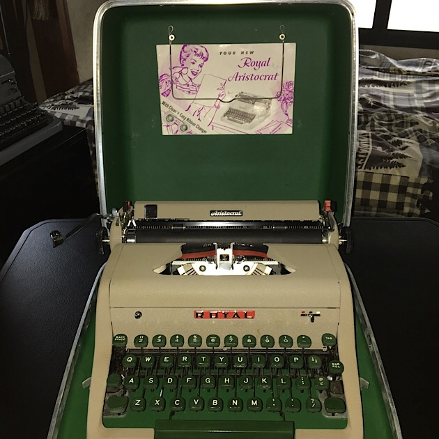 Typewriter in case