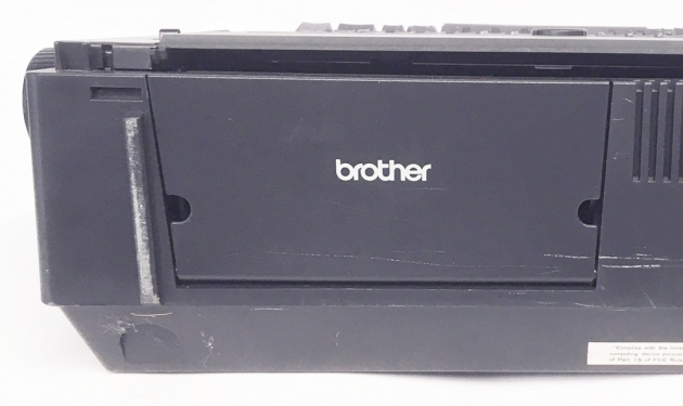 """Brother """"Compactronic 300M"""" from the back (detail)..."""
