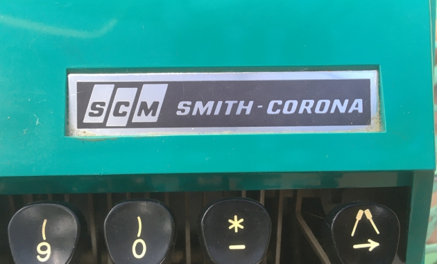 """Smith Corona """"Super G"""" from the makerl logo on the top..."""